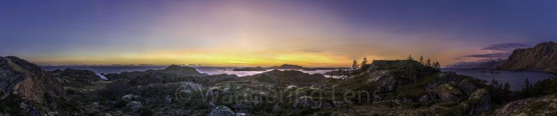 Lofoten islands, Norway at dawn.
