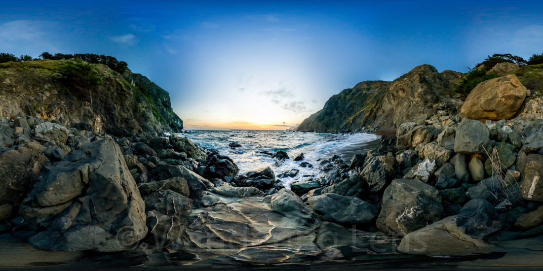 360 degree view at Ragged Point CA.