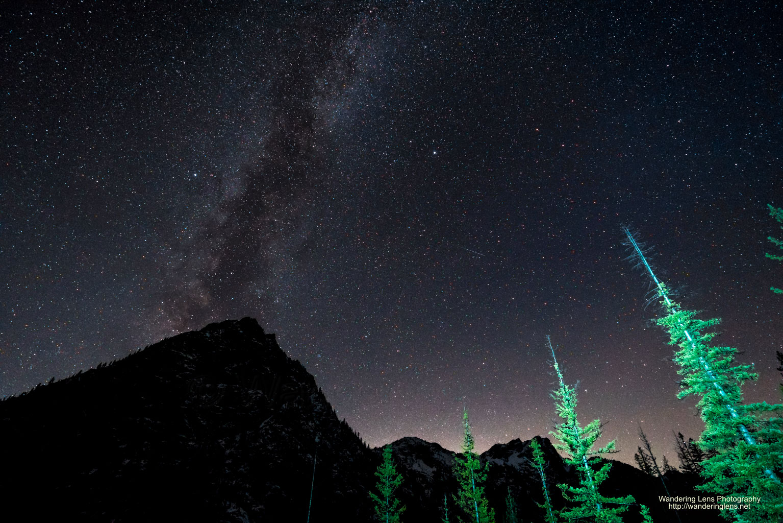 Esmeralda Peak under the Milky Way